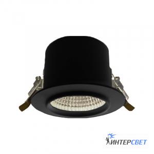 Встраиваемый светильник черный D01