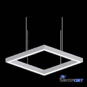 Светодиодный профильный светильник Line-4K Квадрат 80W 500mm